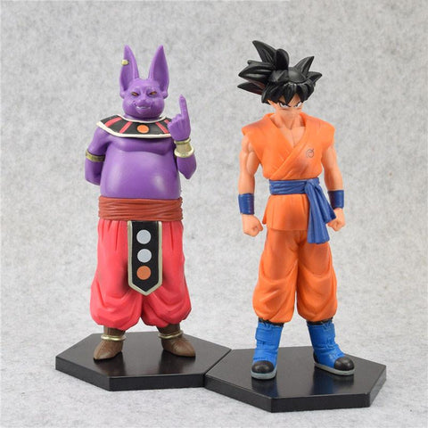 1 LOT DE 2 FIGURINES CHAMPA SANGOKU DRAGON BALL Z - LIVRAISON GRATUITE !