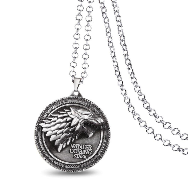 COLLIER LOUP WINTER IS COMING STARK GAME OF THRONES