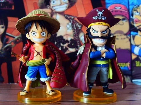 1 LOT DE 2 MINI FIGURINE LUFFY D. MONKEY ET GOLD ROGER ONE PIECE - LIVRAISON GRATUITE !