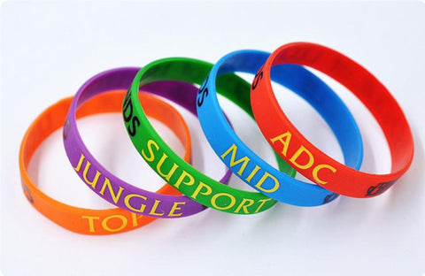 BRACELET SILICON LEAGUE OF LEGENDS (6 COULEURS) - LIVRAISON GRATUITE !