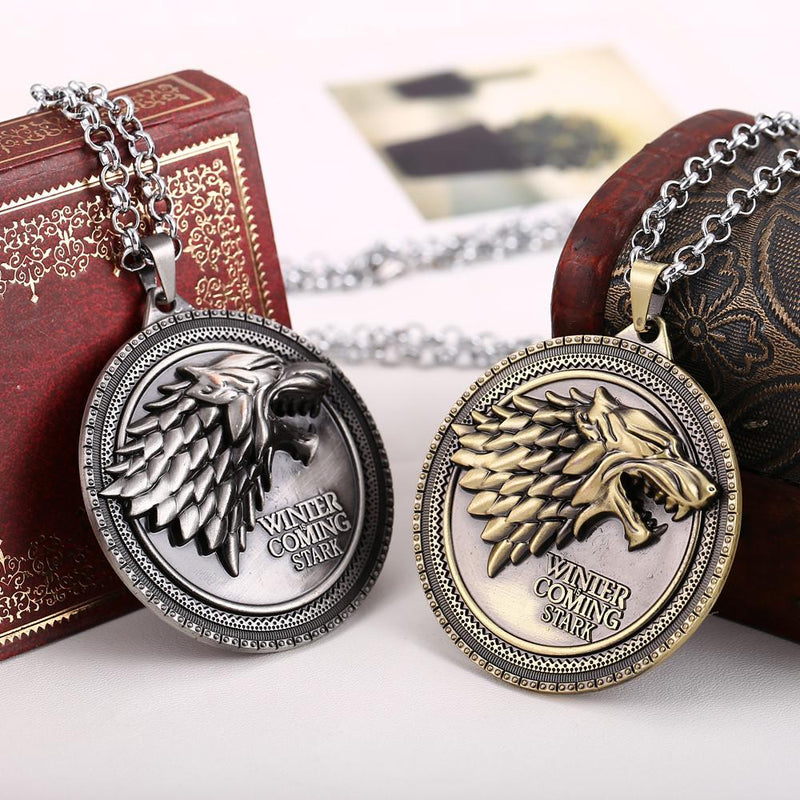 COLLIER LOUP WINTER IS COMING STARK GAME OF THRONES - LIVRAISON GRATUITE !