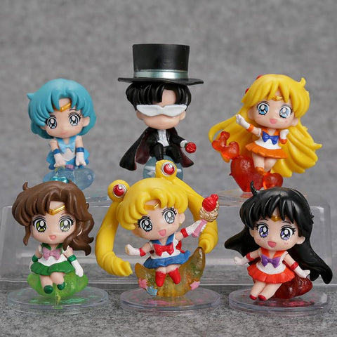 1 LOT DE 6 FIGURINES SAILOR MOON - LIVRAISON GRATUITE