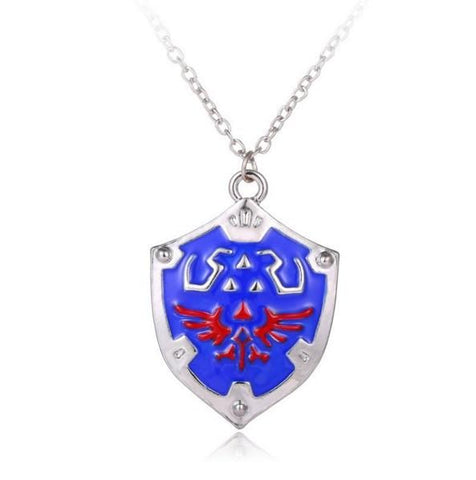 COLLIER TRIFORCE BOUCLIER THE LEGEND OF ZELDA - LIVRAISON GRATUITE !