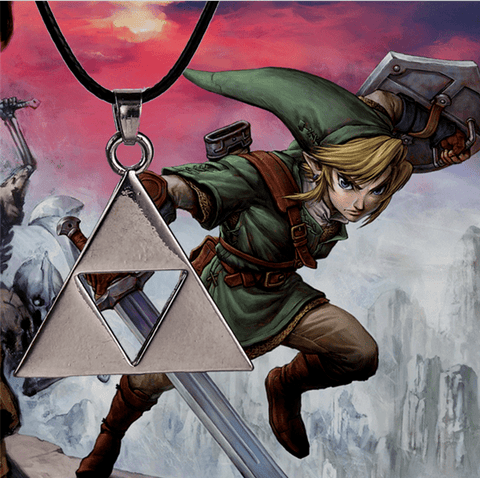 COLLIER TRIFORCE THE LEGEND OF ZELDA (3 Couleurs Disponibles) - LIVRAISON GRATUITE !
