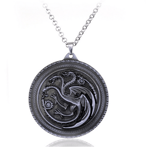 COLLIER PENDENTIF GAME OF THRONES - MAISON TARGARYEN