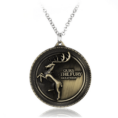 COLLIER PENDENTIF GAME OF THRONES - MAISON BARATHEON