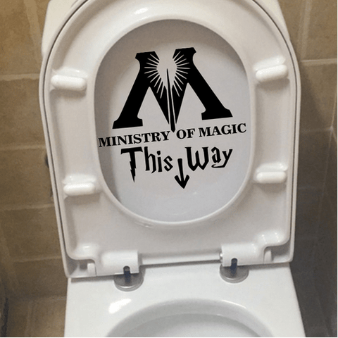 "AUTOCOLLANT ""MINISTRY OF MAGIC - THIS WAY"" POUR TOILETTES"