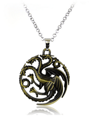 COLLIER PENDENTIF GAMES OF THRONES - MAISON TARGARYEN