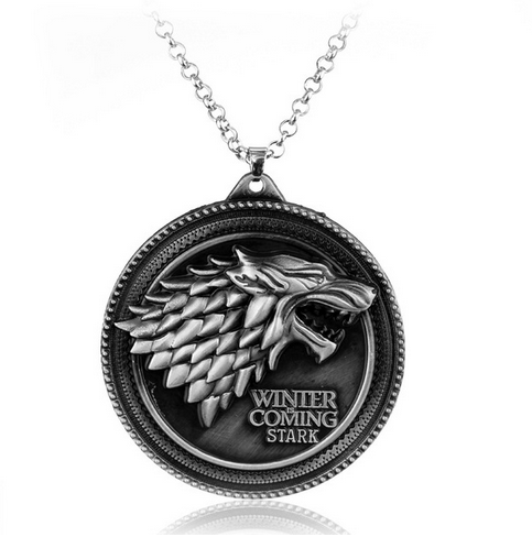 COLLIER PENDENTIF GAME OF THRONES - MAISON STARK - WINTER IS COMING