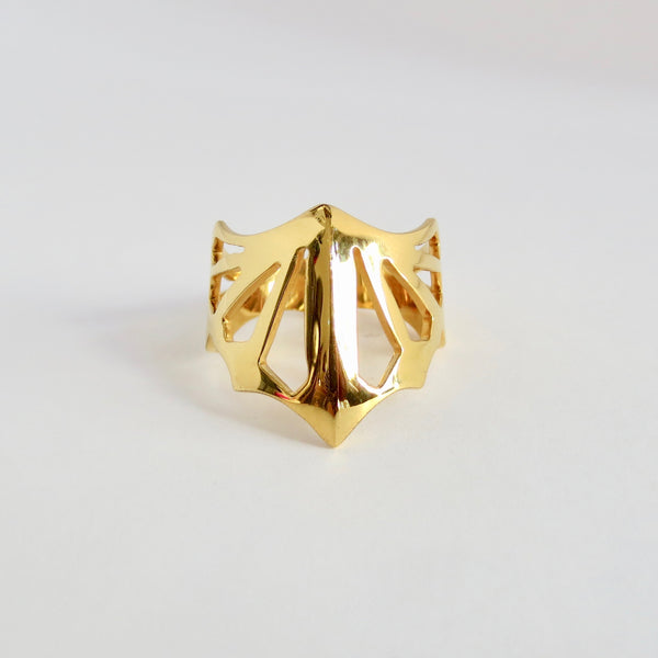 Avaruim mini gold stackable ring