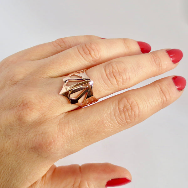 Avaruim mini rose gold stackable ring