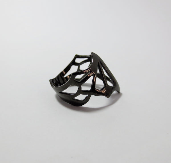 Avaruim mini Black stackable ring