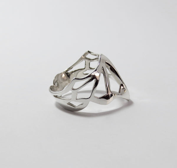 Avaruim mini silver stackable ring