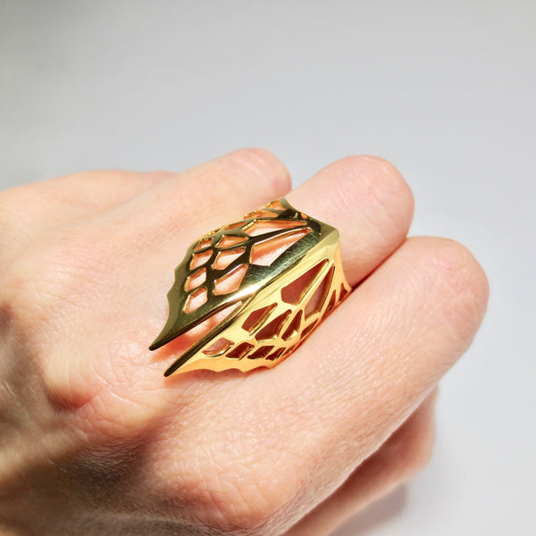 Avaruim gold stackable ring