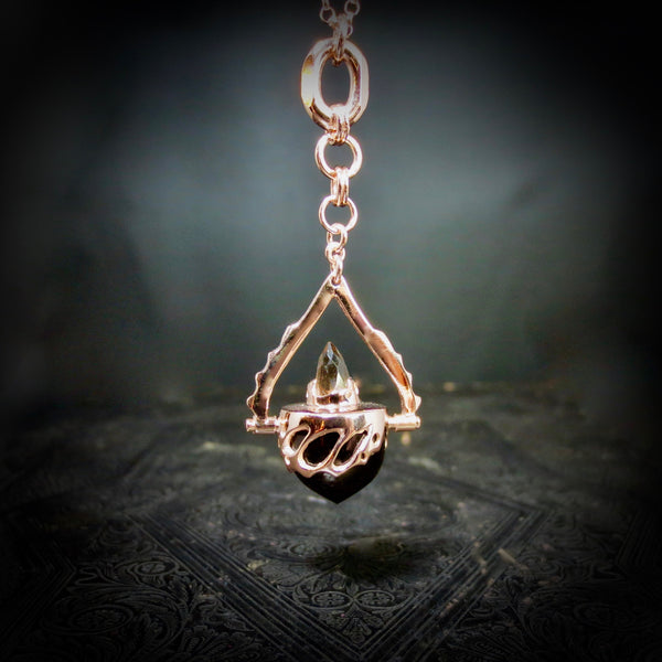 Rose gold Beastiola pendulum, with smokey Quartz