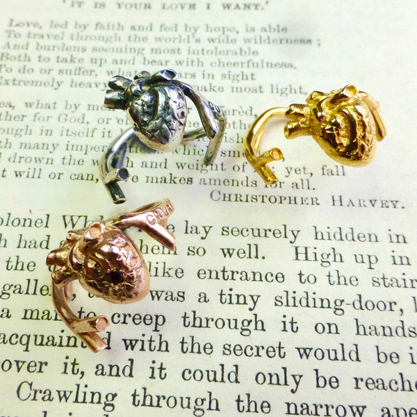 Gold Anatomical Heart ring