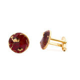 Bloom Maroon Cufflinks - AZGA