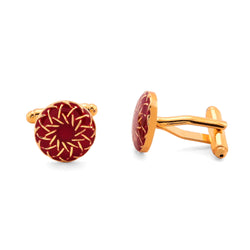 Moroccan Cufflinks - Red