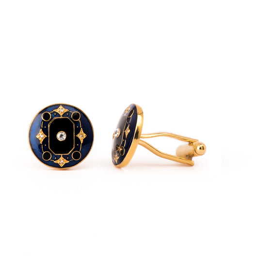 The Myron Cufflinks - Blue and Black