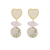 Lilies heart earrings
