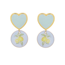 Load image into Gallery viewer, Lime heart earrings