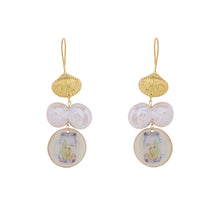 Load image into Gallery viewer, Aqua pearl earrings