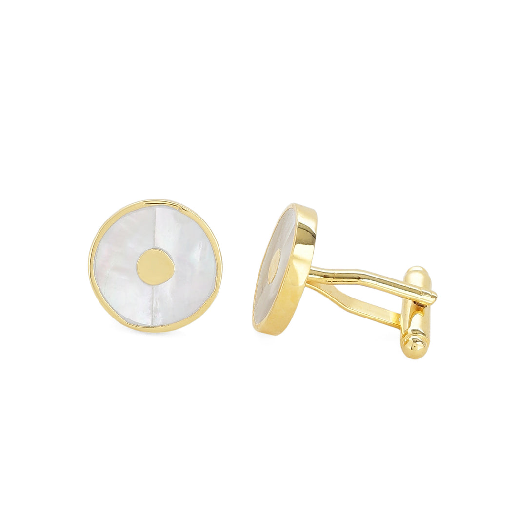 Classic mother of pearl cufflinks