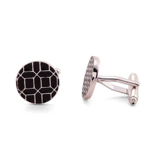 Geometry cufflinks - Black - AZGA