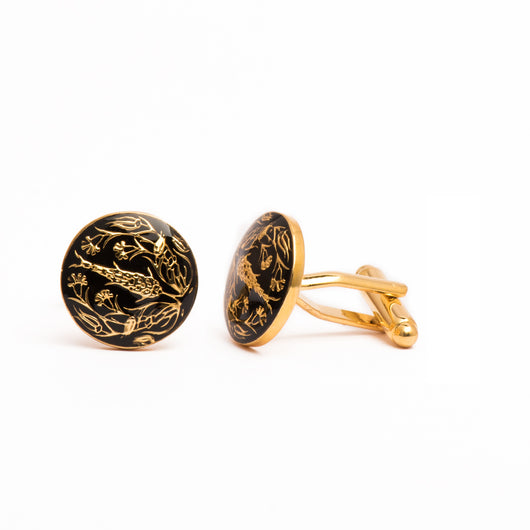 The Shalimar Cufflinks - Black