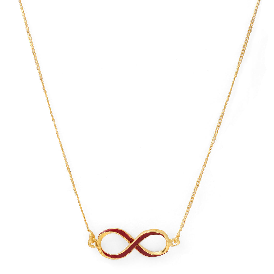 Infinity Neck Chain - Maroon Gold