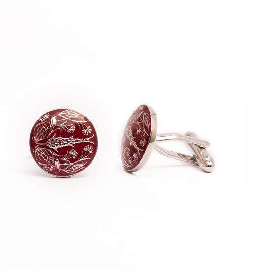 The Shalimar Cufflinks - Red