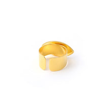 Charger l'image dans la galerie, Evil eye adjustable ring - Ivory Gold