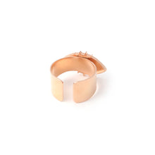 Load image into Gallery viewer, Evil eye adjustable ring - Rose Gold