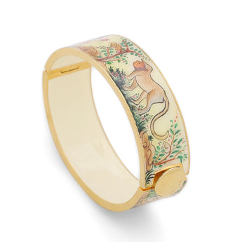 Jungle Handpainted Openable Bangle