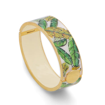 Leaves Handpainted Openable Bangle