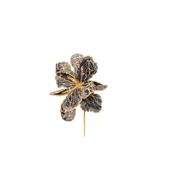 Le jardin brooch - Grey & black - AZGA