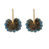 Leaf Earrings Cobalt & black - AZGA