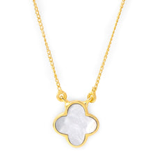 Load image into Gallery viewer, Clover mother of pearl neck chain
