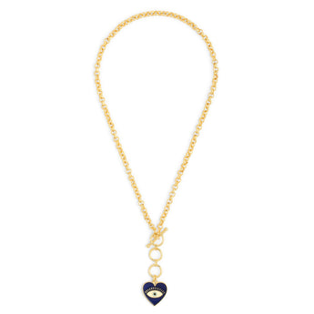 Heart Eye Toggle Neck Chain - Gold