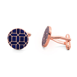 Geometry cufflinks - Blue