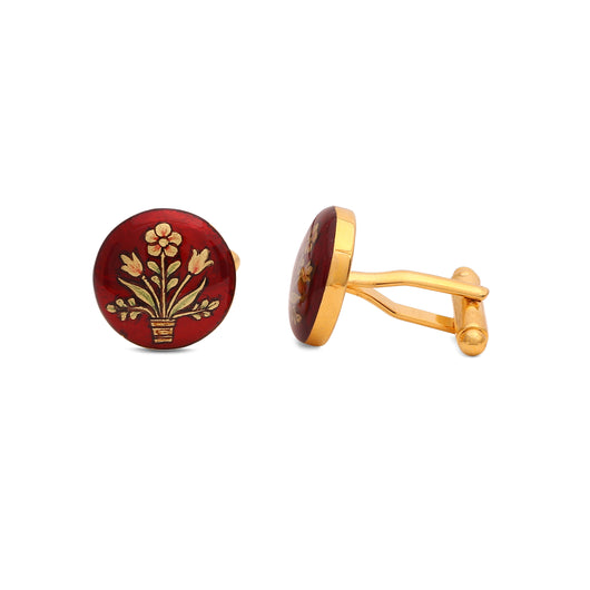 Gulbagh Handpainted Cufflinks