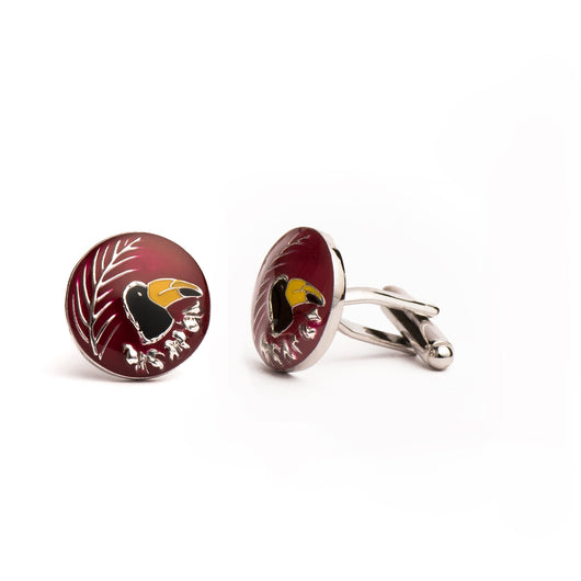 Toucan Cufflinks - Red