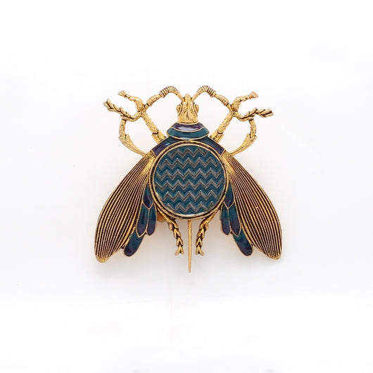 Chevron Insect Brooch