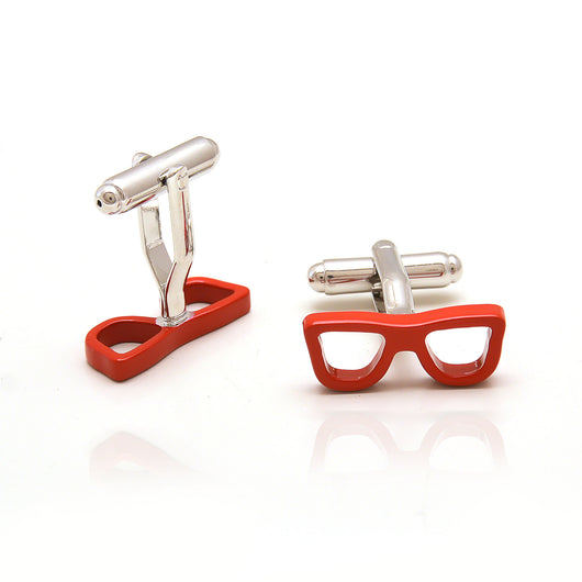 Red Spectacle Cufflinks