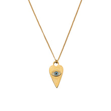 Load image into Gallery viewer, Heart Eye Neck Chain - Gold