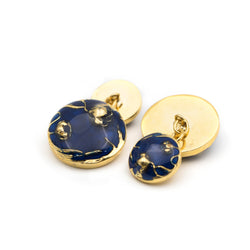Bloom Chain Cufflinks - Blue