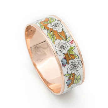 Floral Garden Handpainted Bangle - AZGA