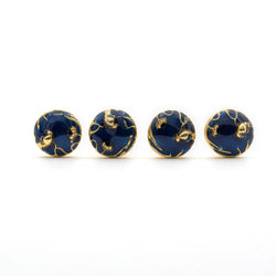 Bloom Blue Shirt Studs - AZGA