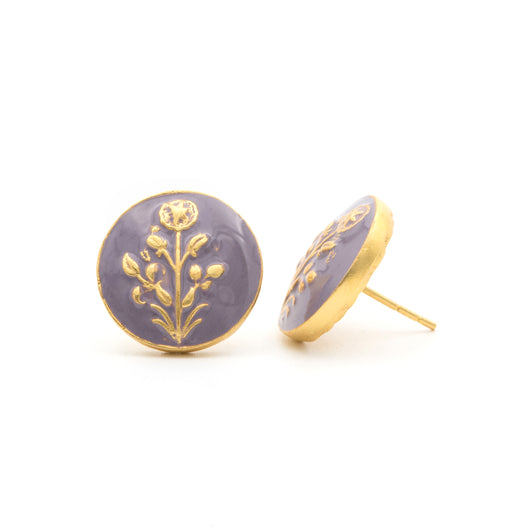 Hisbiscus Lavender Earrings - AZGA
