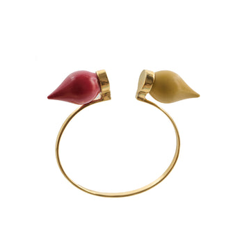 Color block dome bangles - AZGA